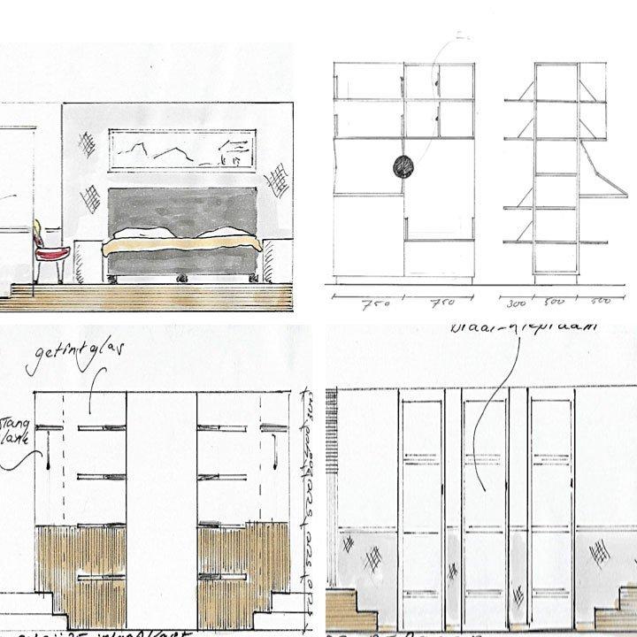Interieur Schets